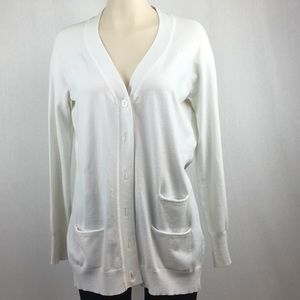Mosca White Button Up Cardigan M